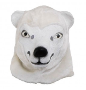 Maschera orso polare per poter completare il tuo costume Halloween e Carnevale