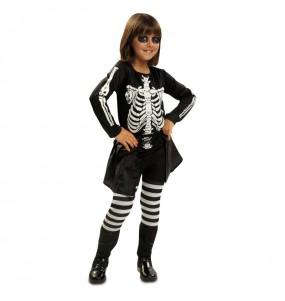 Vestito Scheletro della notte bambine per una festa ad Halloween