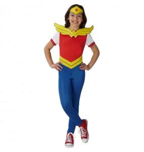 Travestimento Wonder Woman - DC Comics® bambina che più li piace