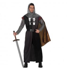 Travestimento Cavaliere Medievale con mantello adulti per una serata in maschera