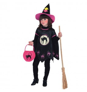 Vestito Strega Gatto Halloween bambine per una festa ad Halloween