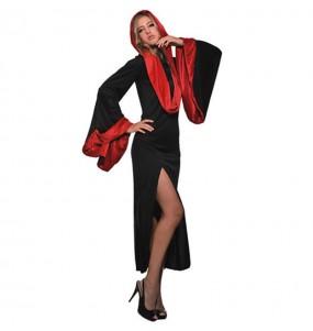 Costume Vampira con Cappuccio donna per una serata ad Halloween