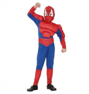 Travestimento Spiderboy muscoloso bambino che più li piace