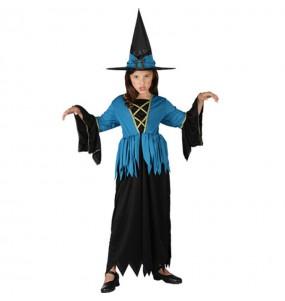 Vestito Strega Blu bambine per una festa ad Halloween