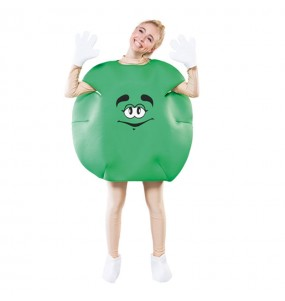 Travestimento caramello verde adulti per una serata in maschera