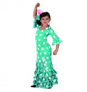 Travestimento Sevillana verde bambina che più li piace