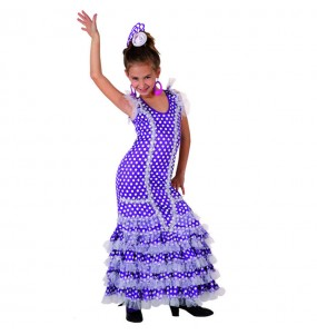 Travestimento Sevillana viola bambina che più li piace
