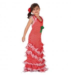 Travestimento Sevillana rossa bambina che più li piace
