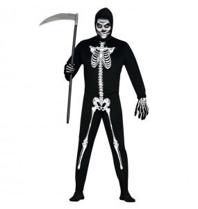 Travestimento Scheletro vivente adulti per una serata ad Halloween
