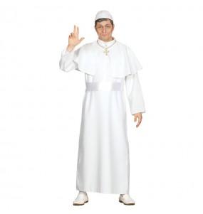 Travestimento Papa di Roma bianco adulti per una serata in maschera