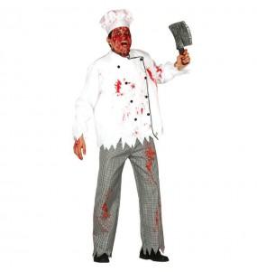 Travestimento Cuoco zombie adulti per una serata ad Halloween