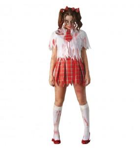 Costume Scolaretta zombie donna per una serata ad Halloween