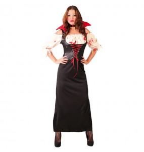 Costume Vampira Akasha donna per una serata ad Halloween