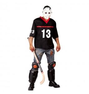 Travestimento Jason Voorhees Venerdì 13 adulti per una serata ad Halloween