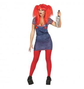 Costume Sposa di Chucky donna per una serata ad Halloween