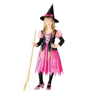 Vestito Strega Rosa bambine per una festa ad Halloween