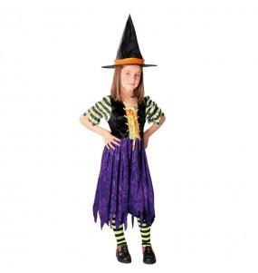 Vestito Strega a strisce bambine per una festa ad Halloween