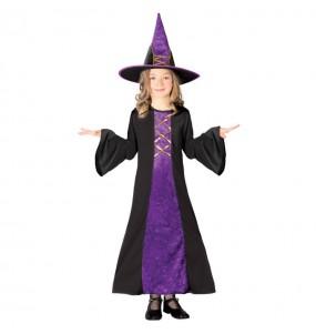 Vestito Strega cattiva bambine per una festa ad Halloween