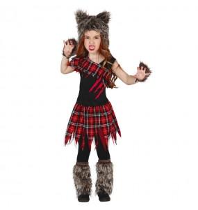 Vestito Lupo Mannaro bambine per una festa ad Halloween
