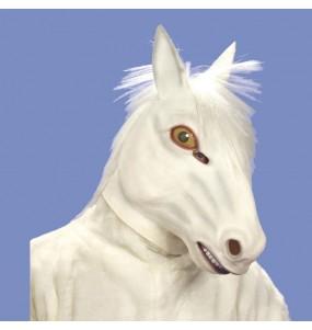 Maschera Cavallo Bianco per poter completare il tuo costume Halloween e Carnevale