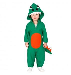 Travestimento Dinosauro verde neonato che più li piace