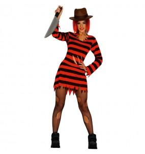 Costume Freddy Krueger donna per una serata ad Halloween