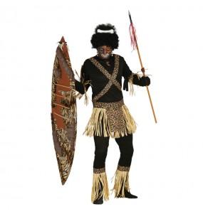 Travestimento Cannibale Zulu adulti per una serata in maschera