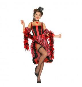 Travestimento Ballerina Can Can donna per divertirsi e fare festa