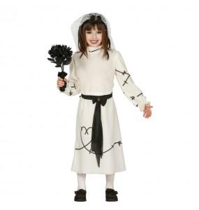 Vestito Sposa cadavere bambine per una festa ad Halloween