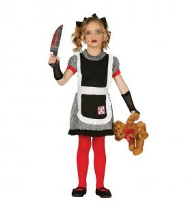 Vestito Bambola gotica diabolica bambine per una festa ad Halloween