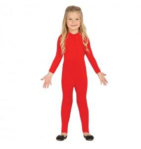 Travestimento Body rosso in spandex bambino che più li piace