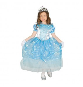 Travestimento principessa Cenerentola blu bambina che più li piace