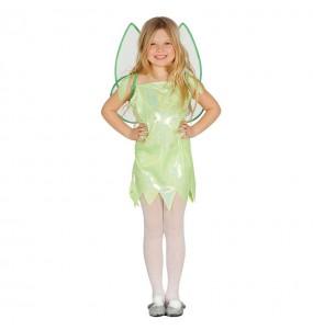 Travestimento Fata verde Campanellino bambina che più li piace