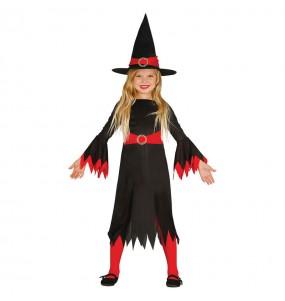 Vestito Strega economica bambine per una festa ad Halloween