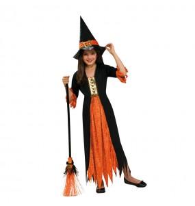 Vestito Strega gotica bambine per una festa ad Halloween