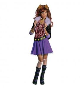 Vestito Clawdeen Wolf Monster High bambine per una festa ad Halloween