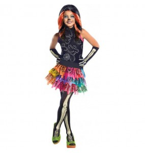 Vestito Skelita Calaveras Monster High bambine per una festa ad Halloween