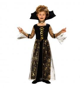 Vestito Regina dei ragni bambine per una festa ad Halloween