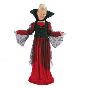 Vestito Vampira rossa bambine per una festa ad Halloween