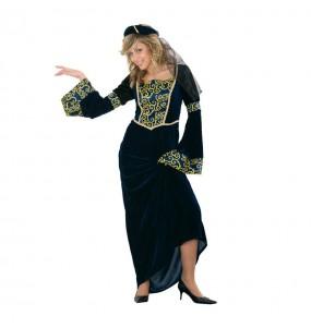 Travestimento Dama medievale Jimena donna per divertirsi e fare festa del Medievo