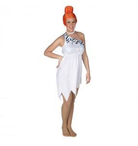 Travestimento Wilma Flintstone donna per divertirsi e fare festa
