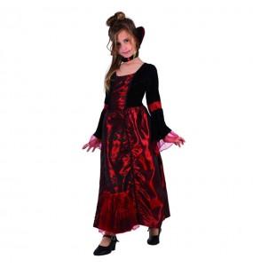 Vestito Vampira gotica deluxe bambine per una festa ad Halloween