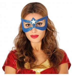 Maschera Captain America donna per poter completare il tuo costume Halloween e Carnevale