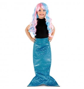 Coda Sirena blu per bambina