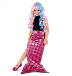 Coda Sirena rosa per bambina