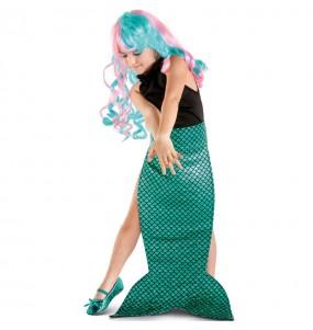 Coda Sirena verde per bambina