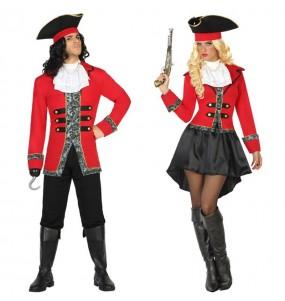 Travestimenti coppia Pirati Capitan Uncino divertenti per travestirti con il tuo partner