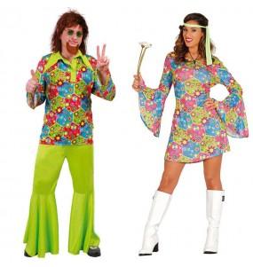 Travestimenti coppia Hippies Fiori divertenti per travestirti con il tuo partner