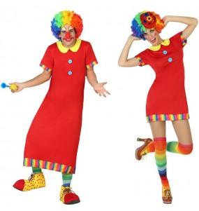 Travestimenti coppia clown in TV divertenti per travestirti con il tuo partner