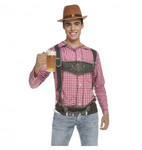 Travestimento T-shirt Oktoberfest tedesco adulti per una serata in maschera